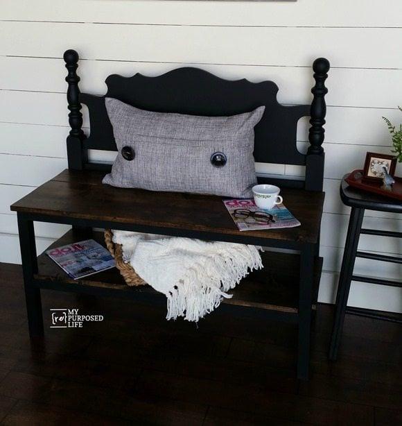 my-repurposed-life-black-headboard-bench
