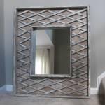 Repurposed Baby Gate Mirror