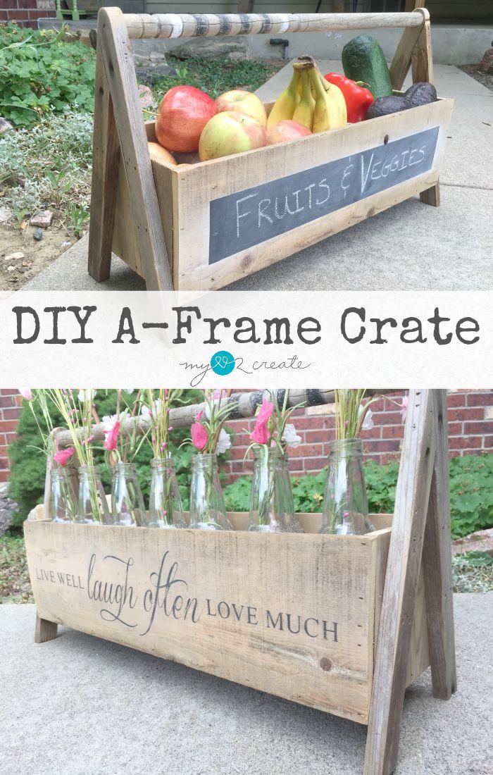 DIY A-Frame Crate