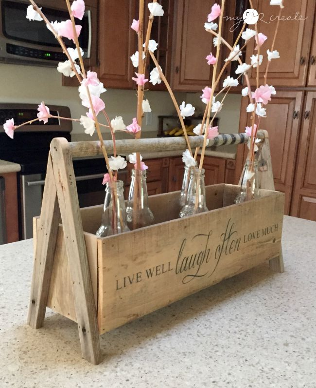 crate used for counter decor