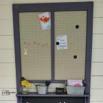Chalkboard Memo Board from an old door
