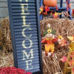 Welcome Sign Shutter Porch Decor