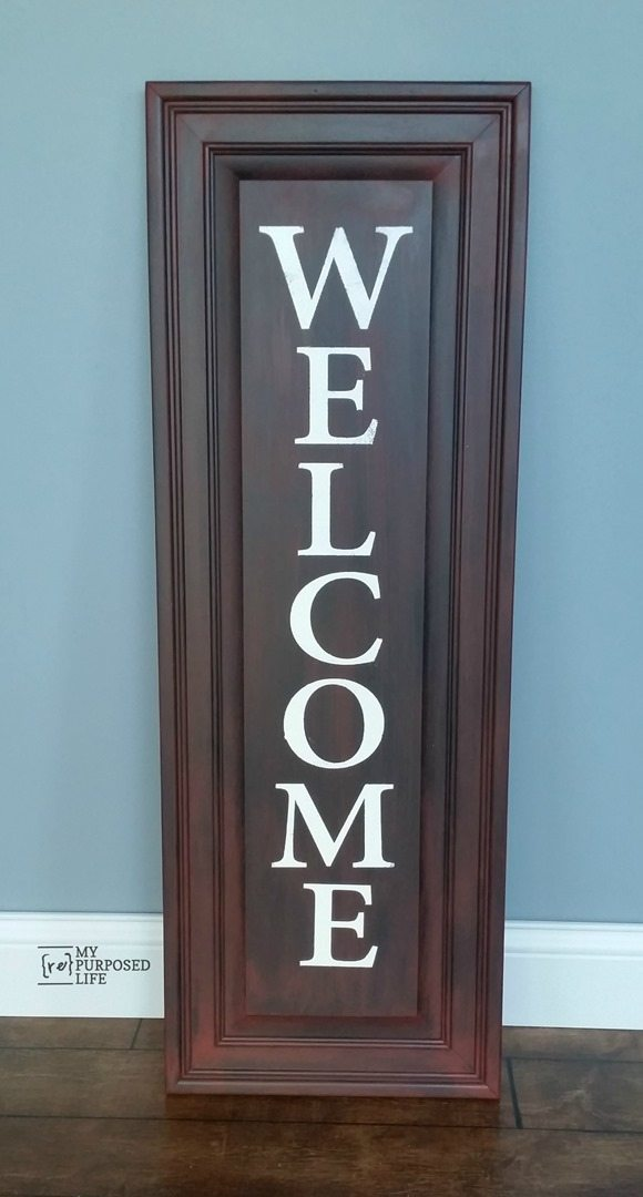 Easy Welcome Sign