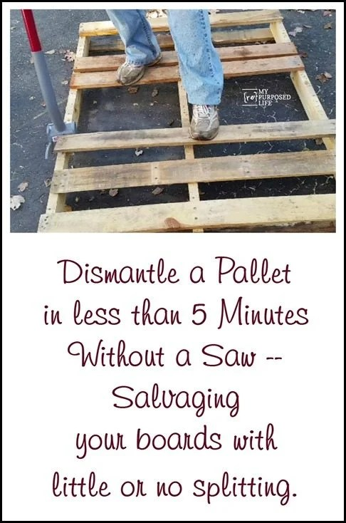 My Repurposed Life - How to dismantle a pallet