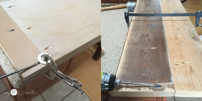 attaching boards with pocket holes