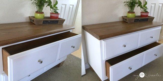 bench drawer storage