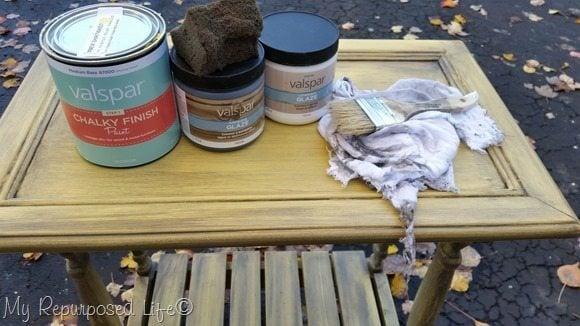 how to glaze furniture:cabinet door table