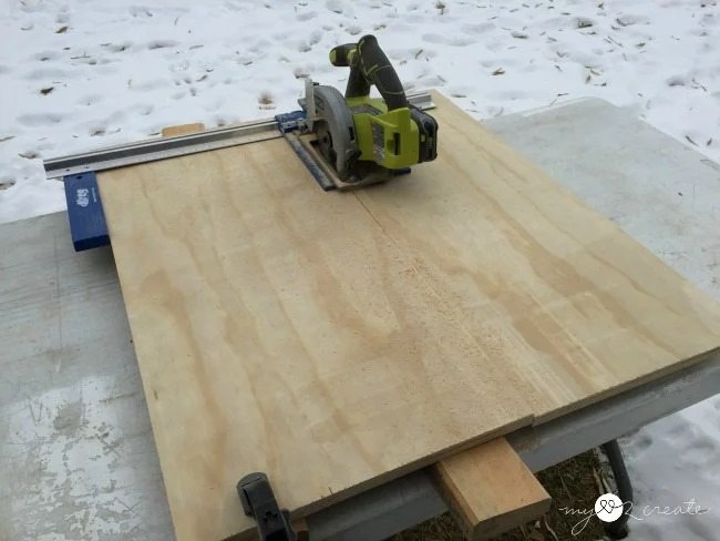 ripping plywood with rip cut