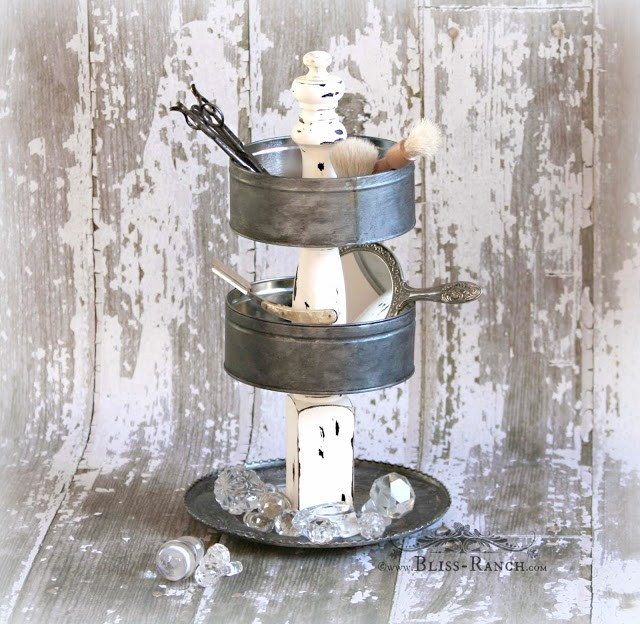 Tiered tin stand