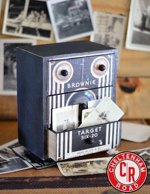 mini dresser vintage camera