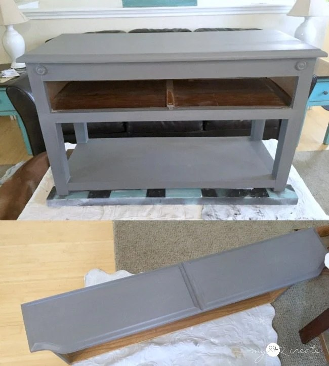 use DIY Chalk Paint for priming furniture