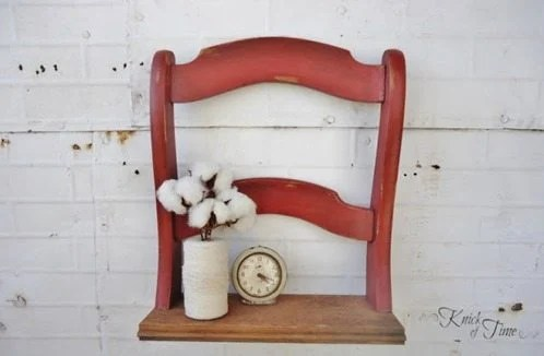 repurposed chair shelf