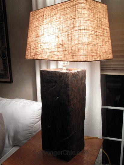 Landscape Timber Railroad Tie Lamp