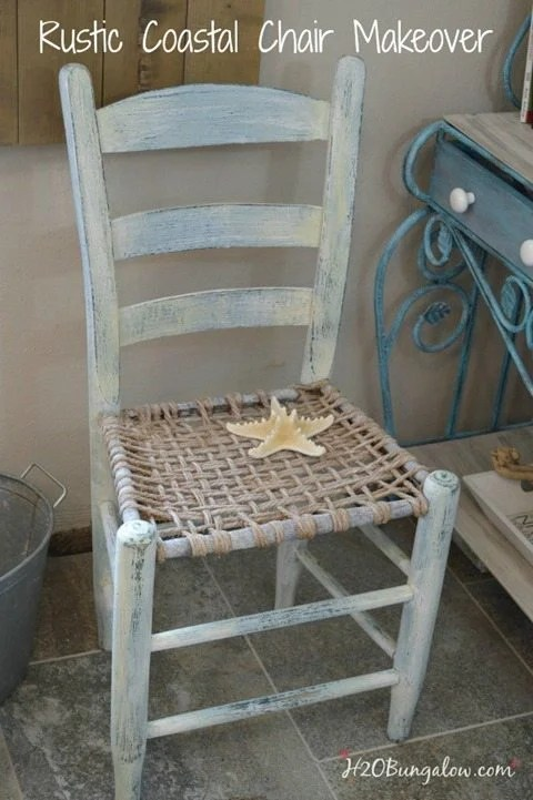 Rustic-coastal-chair-makeover-with-layered-paint-by-H2OBungalow