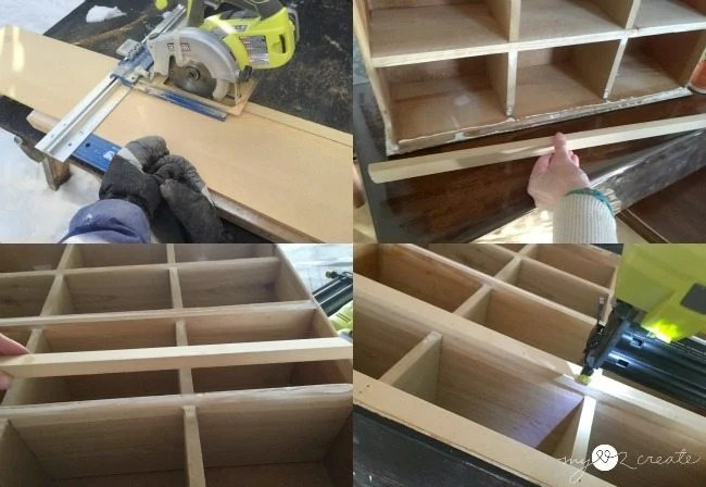 cutting and attaching front trim,