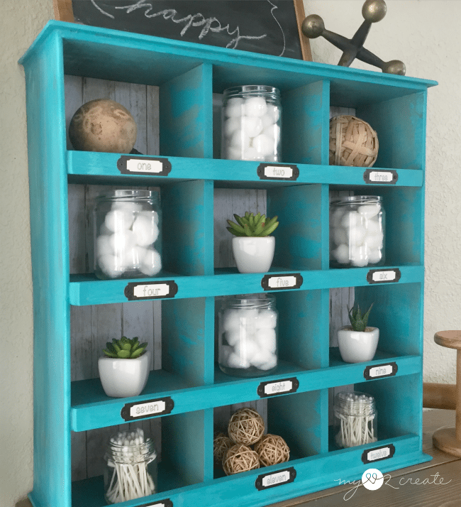 diy cubby organizer made from old drawers