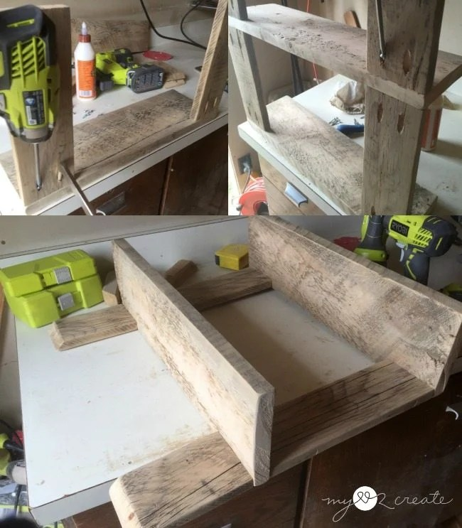 building shelves with pocket holes