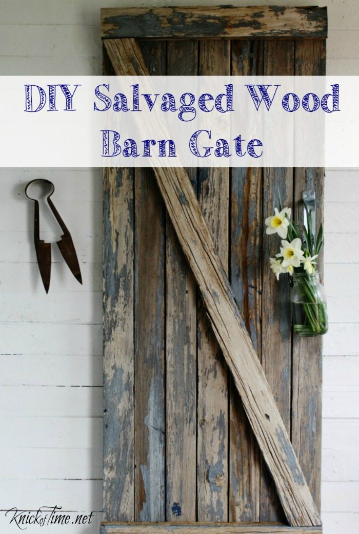 Turn a worn out picnic table into a decorative farmhouse barn gate! By www.knickoftime.net for My Repurposed Life