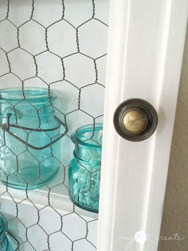 close up of cupboard door