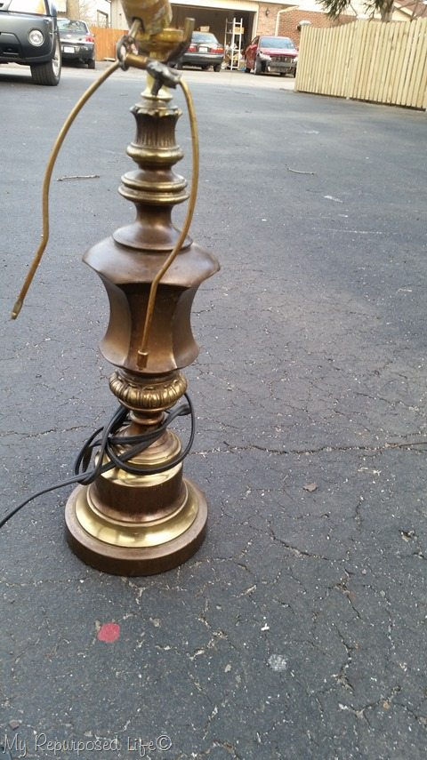 one dollar brass lamp