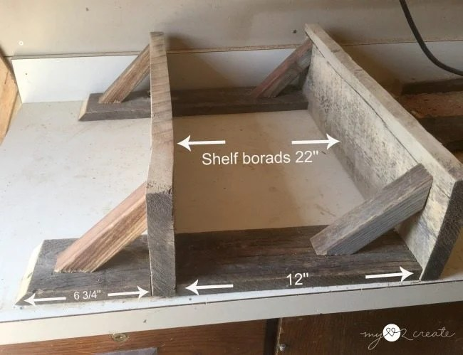 wood measurements for building shelves