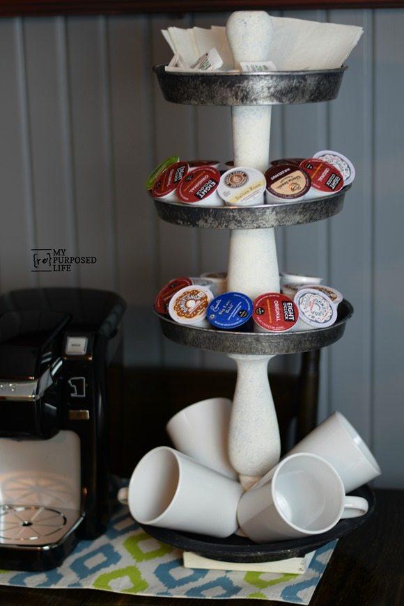 tiered stand coffee station MyRepurposedLife.com
