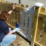 Painting my DIY Picket Fence
