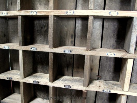 Cubby Organizer Shelves with soda can labels
