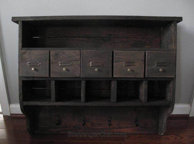 Pallet Wood Organizer Shelf