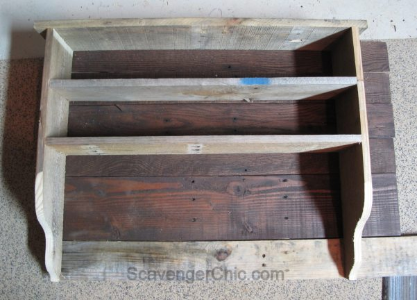 Pallet Wood Storage Organizer Shelf
