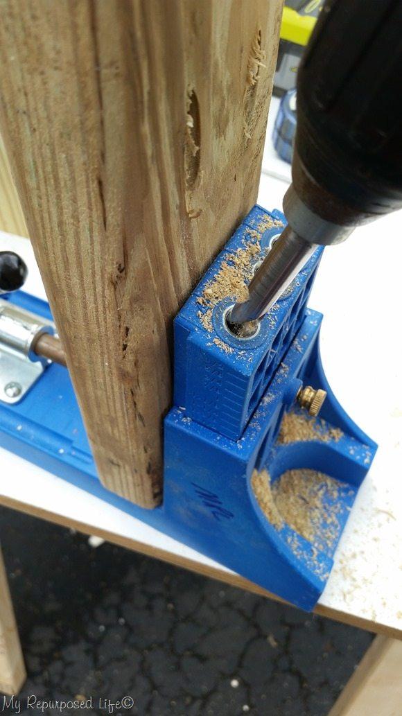 drill kreg pocket holes