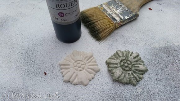 ink highlights clay mold applique
