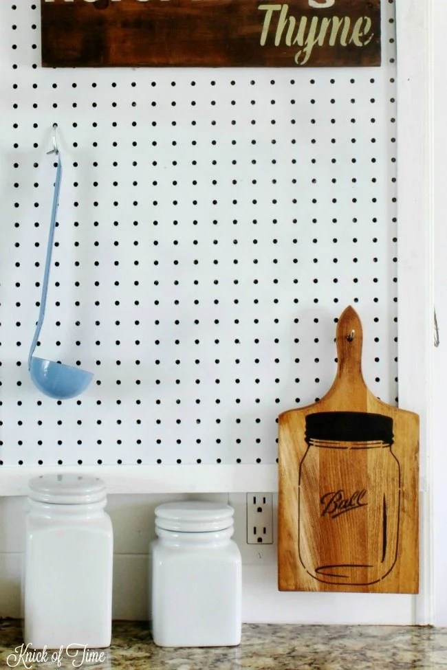 pegboard organization station - Knick of Time