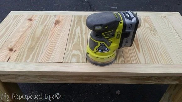 sanding coffee table top