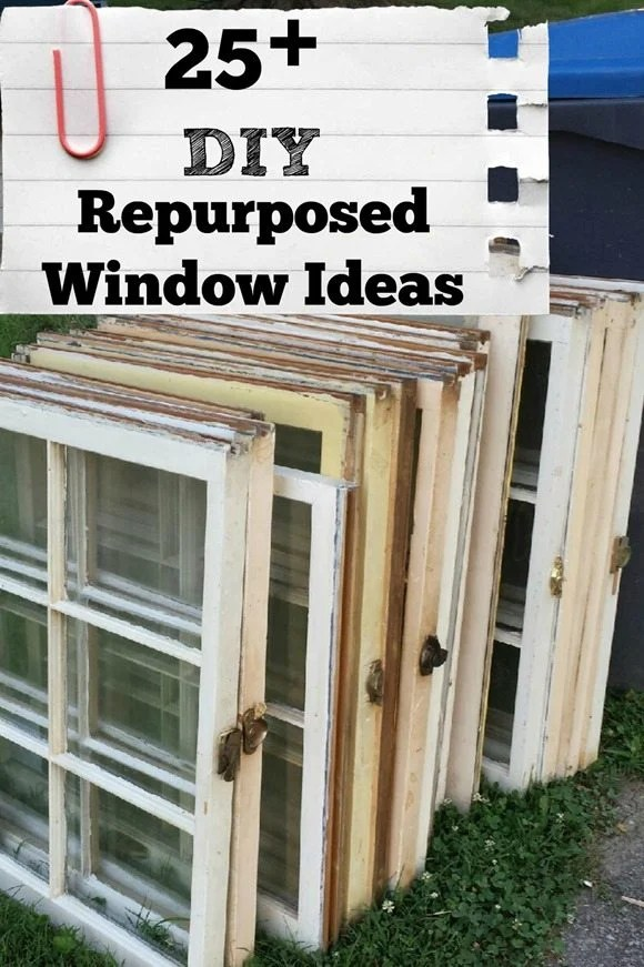 This roundup of window projects will inspire you to think outside the box to reupurpose that window you found at the thrift store or on the roadside. via @repurposedlife