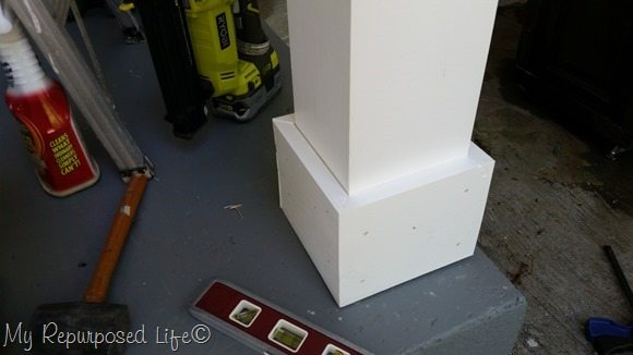 installing trim on porch posts
