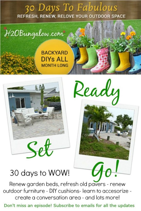 30 Days To Fabulous Backyard Makeover by H2OBungalow