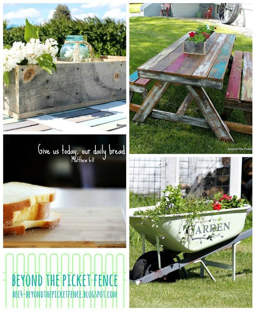 DIY pallet projects, inspiring verse, wheelbarrow transformation