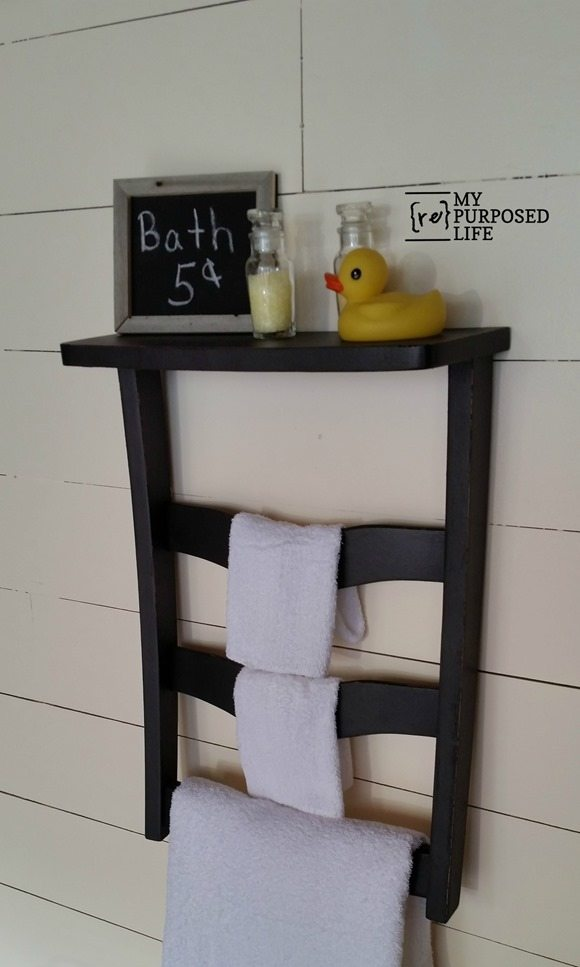 Chair Back Wall Shelf For Guest Room My Repurposed Life 174