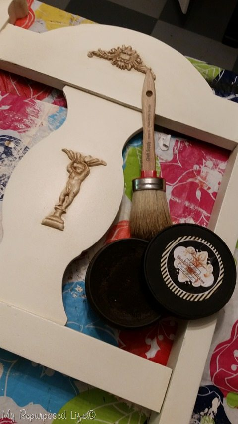 dark umber wax from Heirloom Traditions paint