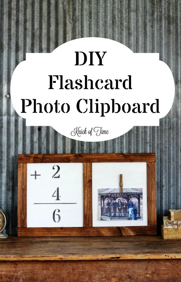 DIY flashcard photo clipboard