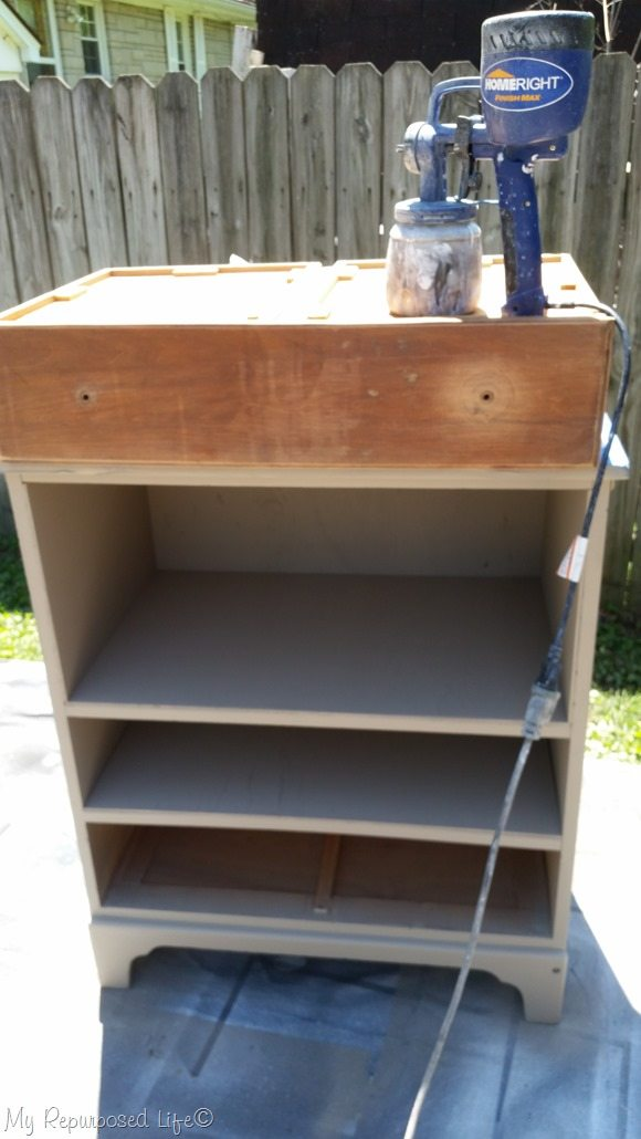 how to paint a drawer front