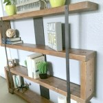Rustic Industrial Narrow Bookshelf