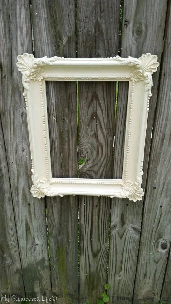 pretty white ornate frame