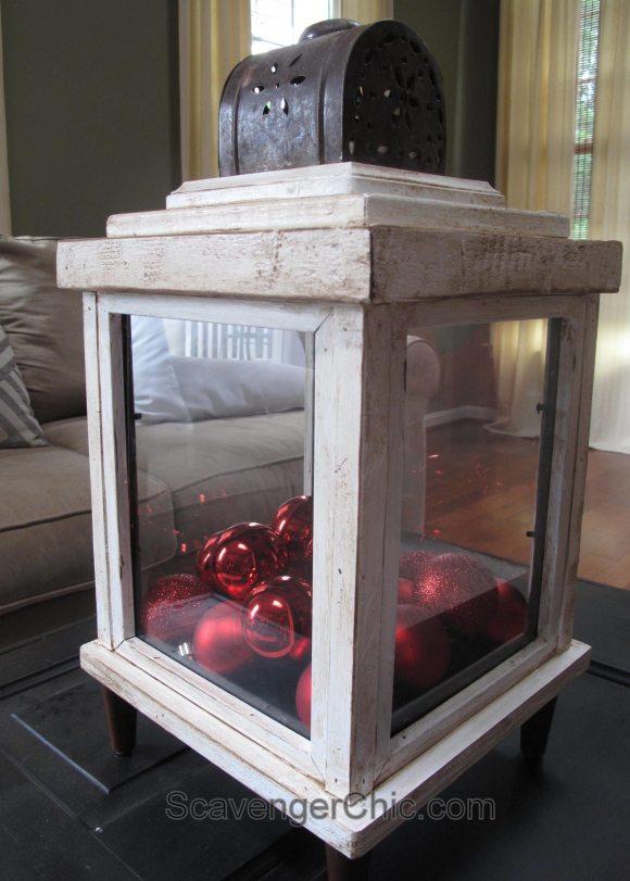 Use old picture frames to make lanterns Scavenger Chic for MyRepurposedLife.com