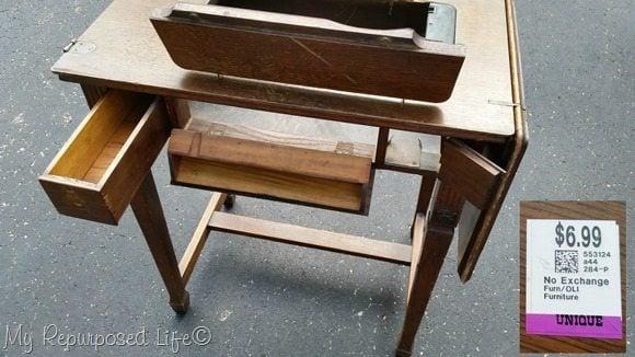 five dollar sewing machine cabinet