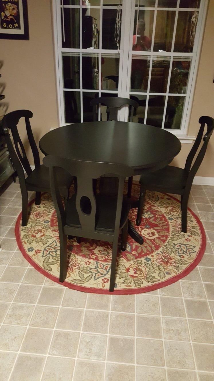thrift store table makeover after
