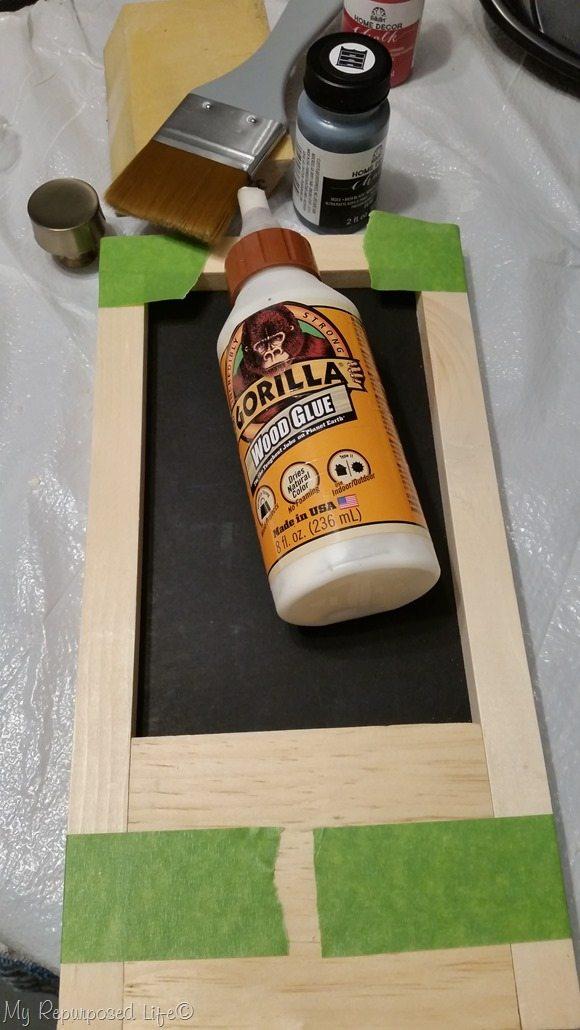 assemble small chalkboard