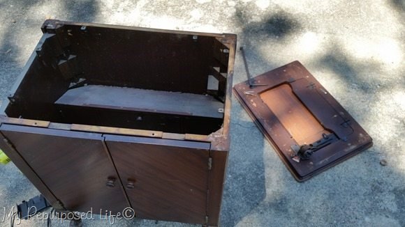 dismantle sewing cabinet