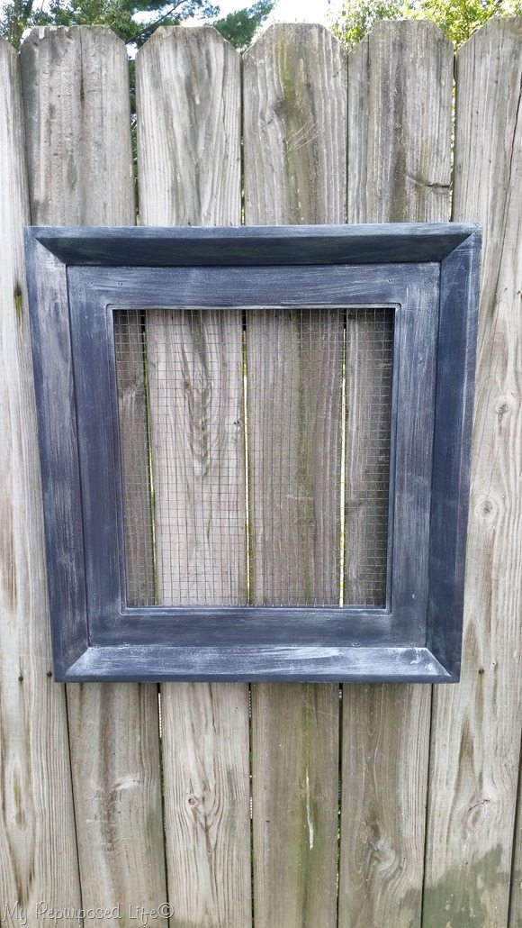 framed organizer made from table top